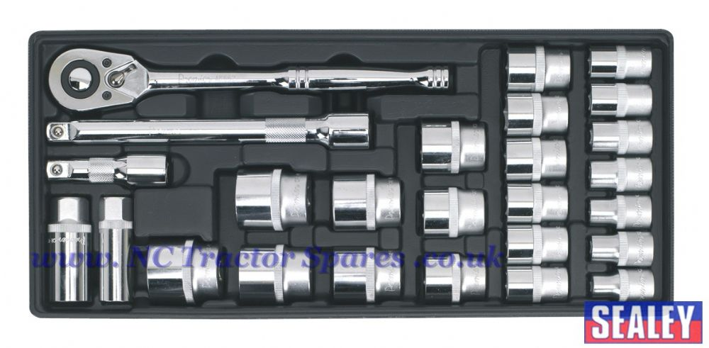 "Tool Tray with Socket Set 26pc 1/2""Sq Drive"